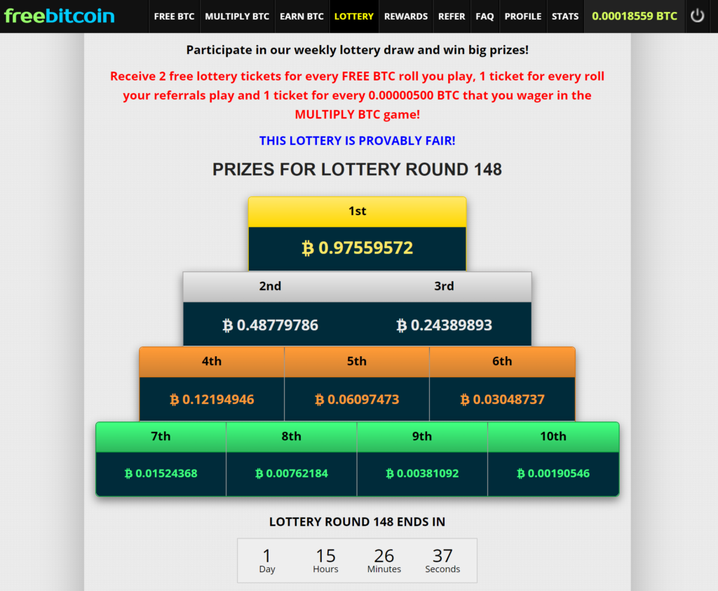 Freebitco.in Lottery